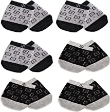 808 Ave Half Toe Socks Breathable Comfortable No Show Low Cut Ankle Crew Black Gray Dark, for Clogs, Athletics - 6 Pairs