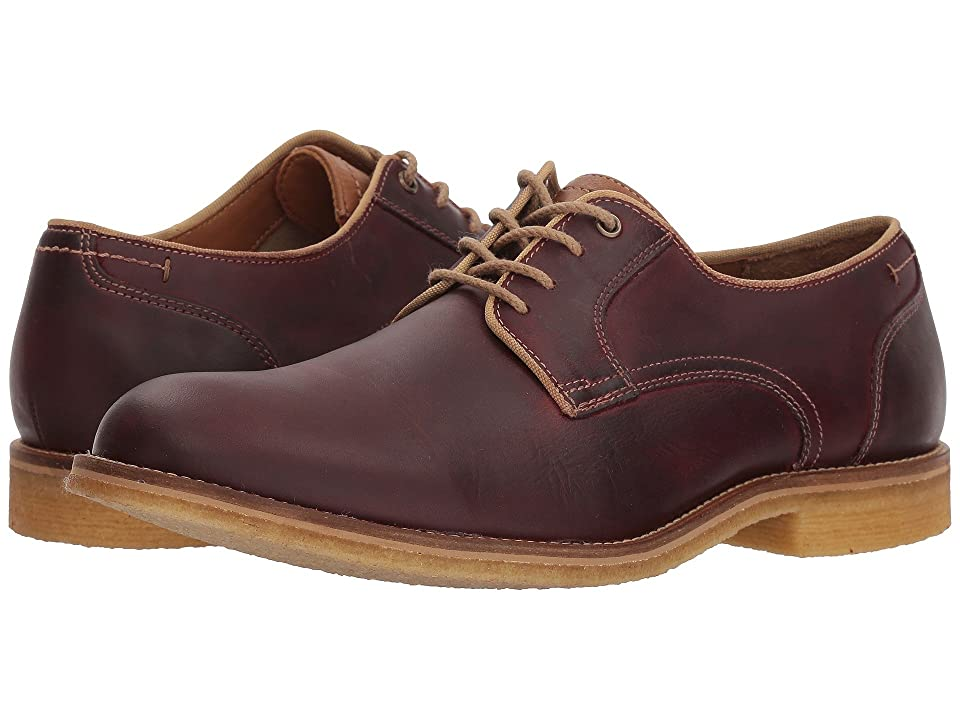 Johnston & Murphy Howell Plain Toe (Burgundy) Men
