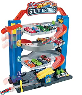 Hot Wheels City Stunt Garage Play Set Gift Idea for Ages 3 to 8 years elevator to upper levels Connects to other sets