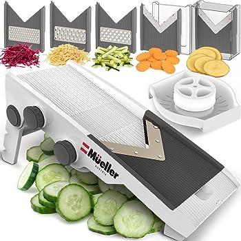 Mueller Austria Premium Quality V-Pro Multi Blade Adjustable Mandoline Cheese/Vegetable Slicer, Cutter, Shredder with Precise Maximum Adjustability