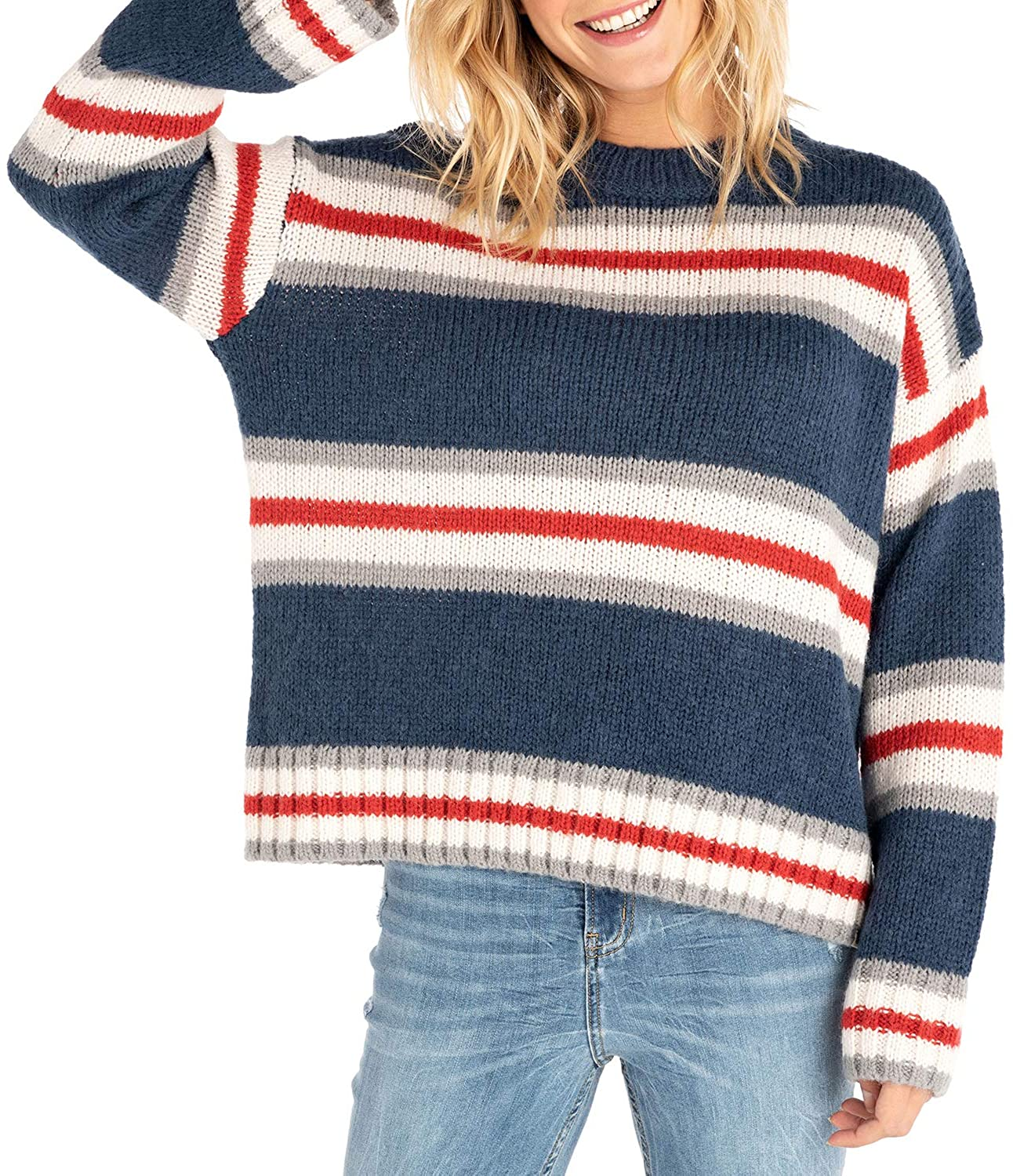 Rip Curl Cosy Oudoors Crew Sweater Womens Knits Insignia Blue