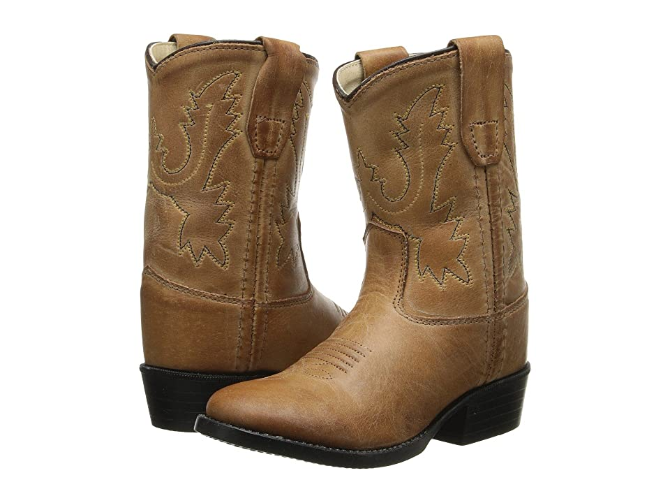 Old West Kids Boots Western Boot (Toddler) (Tan Canyon) Cowboy Boots