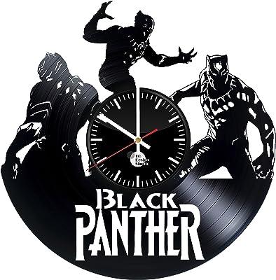 Amazon Com To Design Studio Black Panther T Challa For Kids Weapon X Handmade Vinyl Record Wall Clock Fun Home Kitchen