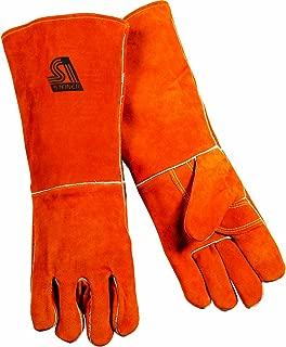 Steiner 21918-L Welding Gloves, Brown Y-Series 18-Inch Length Shoulder Split Cowhide, Foam Lined, Large
