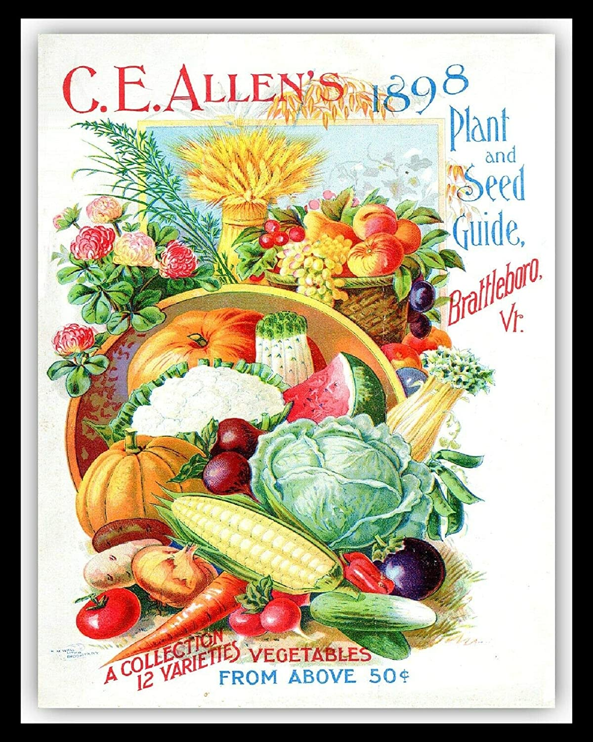 nobrand Vintage Farm C.E.A Llen's 1898 Plant and Seed Guide Brat