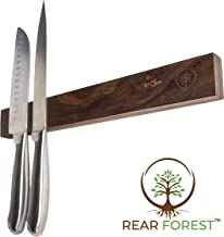 Walnut Magnetic Knife Strip | RearForest | Multipurpose Storage for Any Metal Items | Powerful Magnetic Bar in Premium Walnut Hardwood | Easy Installation on Any Surface | 18 Inch