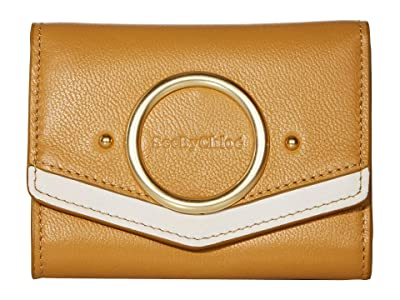 See by Chloe Aura Small Leather Wallet (Burnt Yellow) Wallet Handbags
