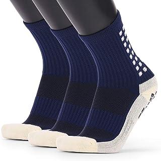 Walmeck-, Calcetines de fútbol Antideslizantes para Hombre Calcetines Largos atléticos Calcetines Deportivos absorbentes para Baloncesto Baloncesto Voleibol Correr Trekking Senderismo 1 Pares / 3 Pares