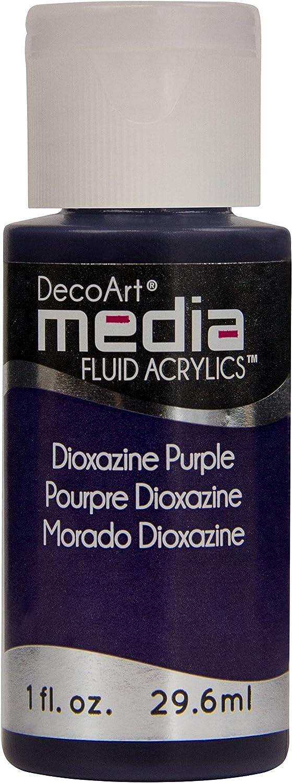 Deco Art Media Fluid Acrylic Dioxazine New life Large discharge sale Paint 1-Ounce Purple