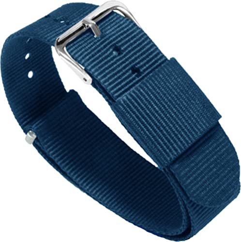 BARTON Watch Bands - Ballistic Nylon Military Style Straps - Choice of Color, Length & Width (18mm, 20mm, 22mm or 24mm)