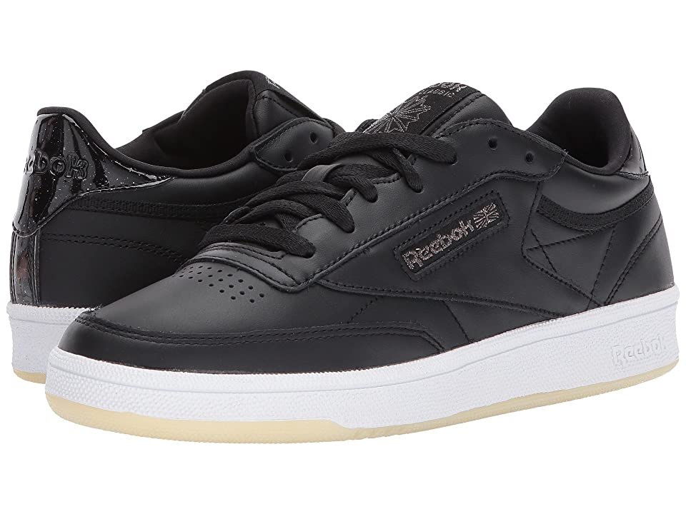 Reebok Lifestyle Club C 85 Leather (Black/White/Ice) Women