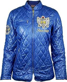 Big Boy Headgear Sigma Gamma Rho Sorority Womens Padded Jacket Blue