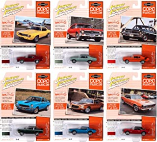"""Johnny Lightning Muscle Cars USA 2020 Set B of 6 Cars Release 2""""COPO Muscle Limited Edition to 2500 Pieces 1/64 Diecast Mo..."""
