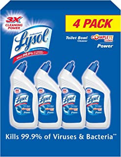 Lysol Power Toilet Bowl Cleaner Value Pack, 128 Ounce