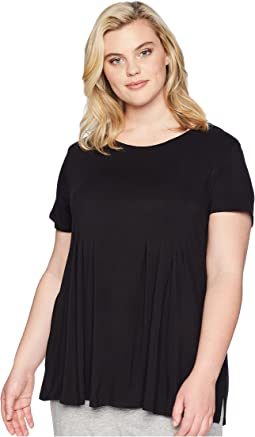 Donna karan plus size urban essentials short sleeve top  9ddb76ec5