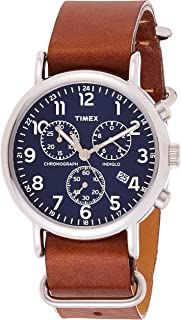 Timex Mens Quartz Watch, Chronograph Display and Leather Strap - TW2R63200