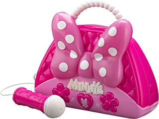 Minnie Mouse Voice Change Boombox with Microphone! Sing Along to Built in Music Or Connect Your Own Device! Minnie Bowtiqu...