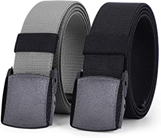 """No Buckle Stretch Women Belt For Jeans Pants, Elastic Buckle Free Invisible Belts For Men Up To 48"""""""