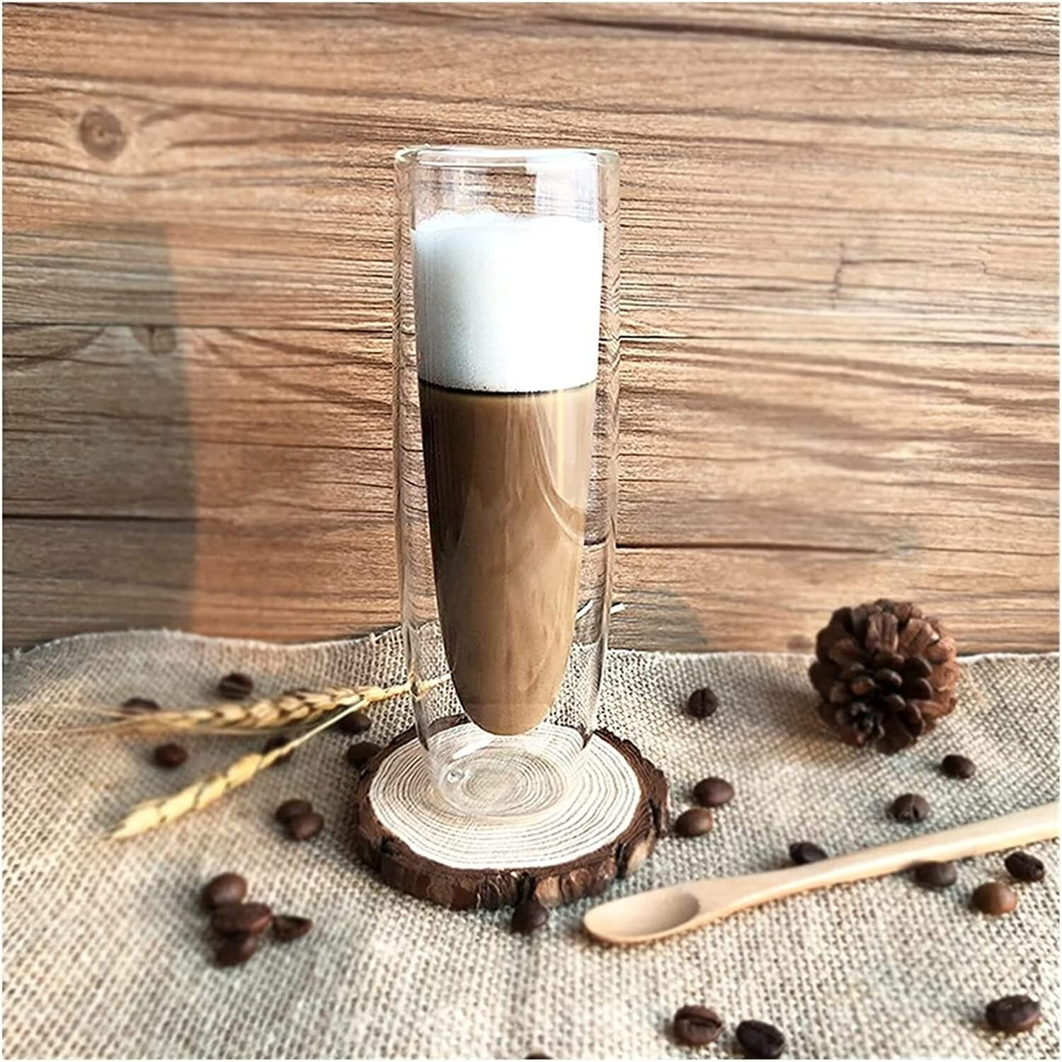 Same day shipping Water Cup 150ml Double Wall Chicago Mall Coffee D Vodka Glasses Shot Beer
