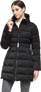 Orolay Women Warm Cotton-Padded Jacket with Waist Belt Coat