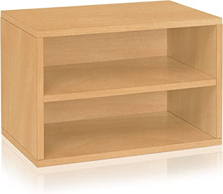 Way Basics Divider Blox Eco Friendly Storage and Stackable Shelving - Natural (made from sustainable non-toxic zBoard paperboard)