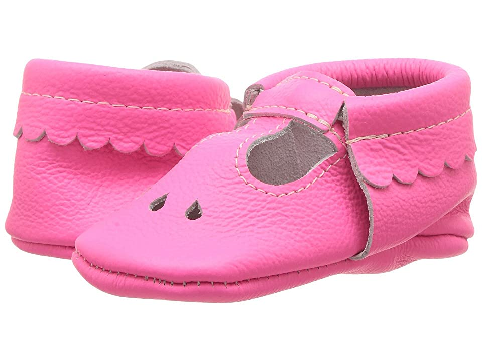 Freshly Picked Soft Sole Mary Jane (Infant/Toddler) (Neon Pink) Girl