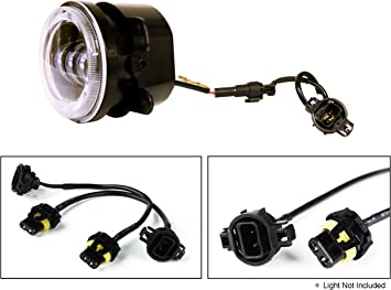 Amazon Com Xprite 5202 2504 H16 Hid Led Fog Lights Female Adapter Wiring Harness Sockets Wire Conversion Adapter Wires For 2007 2018 Jeep Wrangler Jk Fog Lamp Automotive