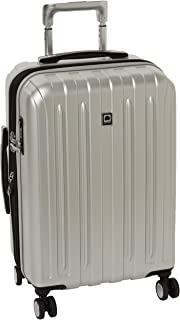 DELSEY Paris Titanium Hardside Expandable Luggage with Spinner Wheels, Silver, Carry-On 21 Inch