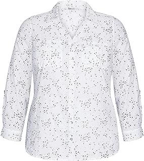 Beme Long Sleeve Dandylion Cotton Shirt - Womens Plus Size Curvy