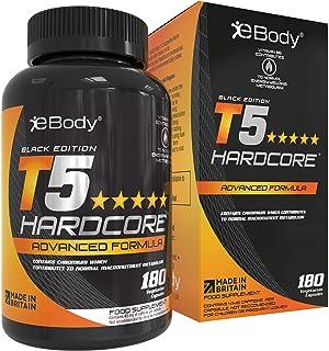 T5 Hardcore quemagrasas potente para adelgazar para hombres y mujeres el cual contiene L-tirosina. cromo. vitamina B6 y extractos botánicos. Mens Health Review & Hecho en el Reino Unido (180 cápsulas vegetarianas)