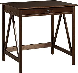 Linon Home Dcor Titian Laptop Desk, Antique Tobacco, 31.5