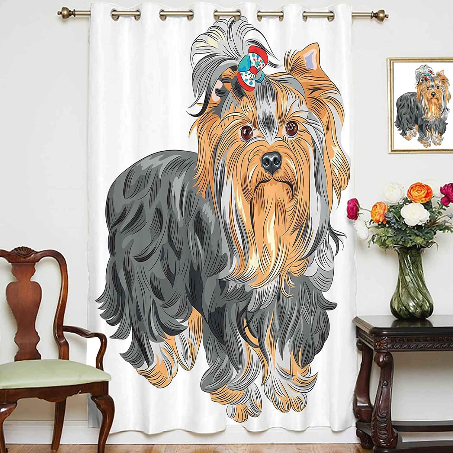 Blackout Shading Curtains Terrier 25% OFF with on Ranking TOP18 Bow Colored Head Cute
