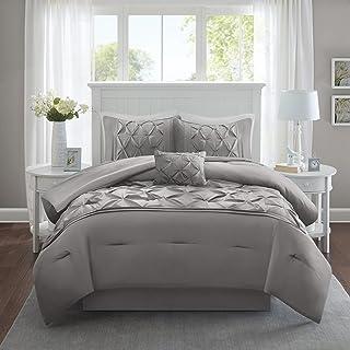 Comfort Spaces - CS10-0015 Cavoy Ultra Soft Hypoallergenic Microfiber Tufted Pattern 5 Piece Comforter Set Bedding, Queen,...