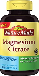 Nature Made Magnesium Citrate Softgels, 250mg, 120 Count