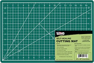 """US Art Supply 12"""" x 18"""" GREEN/BLACK Professional Self Healing 5-Ply Double Sided Durable Non-Slip PVC Cutting Mat Great for Scrapbooking, Quilting, Sewing and all Arts & Crafts Projects"""