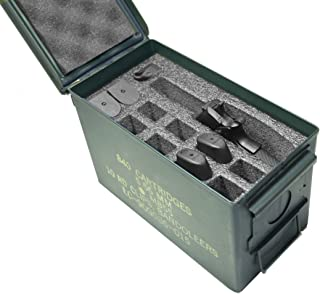 Case Club 1 Pistol & 11 Magazine Holder .50 Cal Ammo Can Foam (Pre-Cut, Closed Cell, Military Grade Foam)