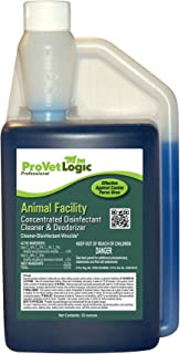 ProVetLogic AcuPro Animal Facility Disinfectant, Concentrated Disinfectant, Cleaner and Deodorizer, Effective Against Canine Parvovirus, 32 Ounces