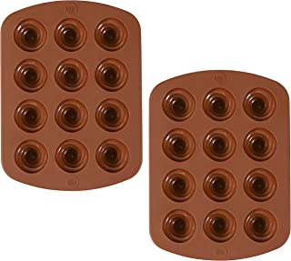 ROSANNA PANSINO by Wilton 12-Cavity Silicone Swirl Candy Molds, Multi-pack of 2