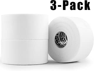 White Athletic Sports Tape VERY Strong EASY Tear NO Sticky Residue BEST TAPE for Athlete & Medical Trainers. PERFECT on bat, Lacrosse / Hockey stick, Lifters, Climbers & Boxing (White, 3-Pack)
