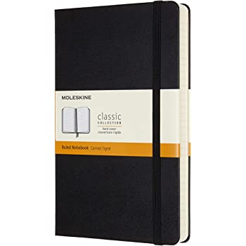 """Moleskine Classic Expanded Notebook, Hard Cover, Large (5"""" x 8.25"""") Ruled/Lined, Black, 400 Pages"""