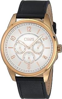 Reloj Chaps Bransen para Hombres 44mm, pulsera de Piel de Be
