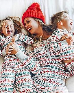 Pijamas navideñosConjunto de Pijamas Familiares de Navidad de algodón Puro, Pijamas para niños Adultos, Servicio a Domicilio, impresión en Color sólido, Conjunto de Pijamas de f