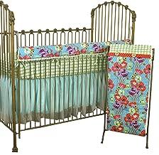 Cotton Tale Designs Lagoon Front Rail Cover Up Set, Turquoise/Purple/Orange/Green, Standard Crib