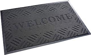 acerto 30210 Felpudo Premium Welcome Trampa de Suciedad Gris 40x60cm * Extremadamente Resistente * Exterior e Interior * A...