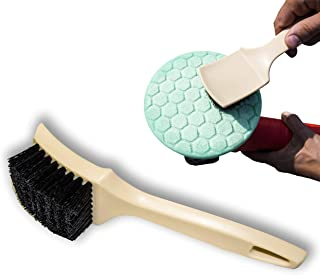 Gold Label Detailing Foam Pad Cleaning Brush | DA Orbital Polishing Disc Cleaner | Works on Foam and Wool Pads