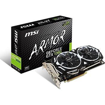 MSI GeForce GTX 1060Armor 6G OCV1Grafikkarte (6144 MB GDDR5, 8008 MHz, 192 Bit Grafikspeicher)