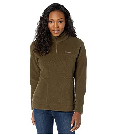 Columbia Canyon Pointtm Sherpa Pullover (Olive Green) Women