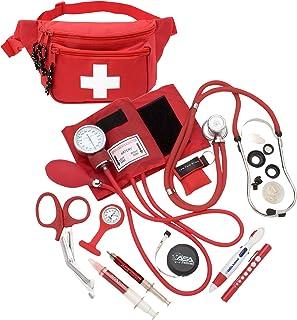 کیت فشار خون AsaTechmed Deluxe با استتوسکوپ Sprague Rappaport || لوازم جانبی مانیتور بهداشتی Fanny Pack w CPR Mask