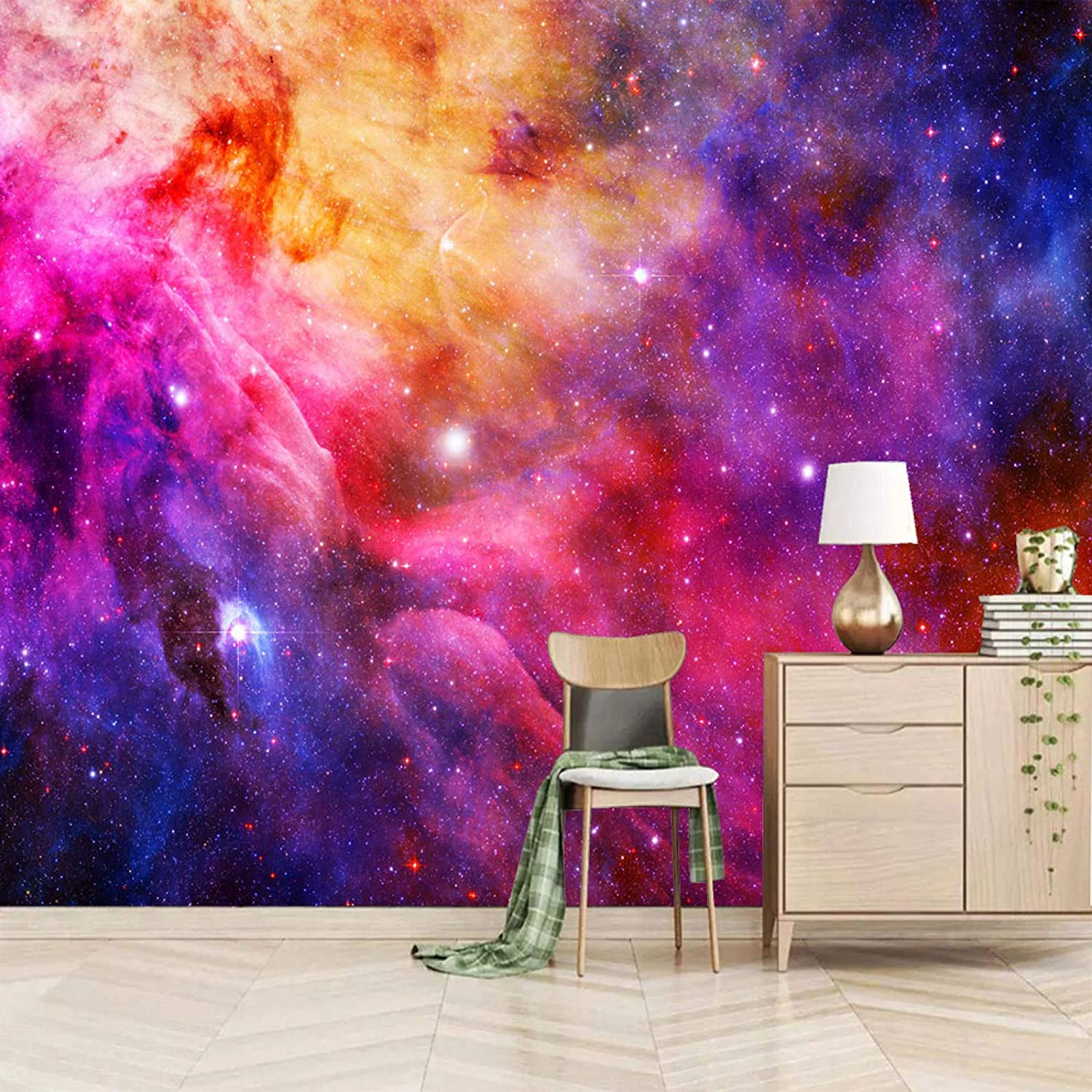 XiaoCha Cool Starry Sky Galaxy Landscape Free Shipping New 3D Outlet SALE Wall Self-Adhesive S