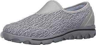 Propét Women's TravelActiv Slip-On Sneaker Oxford, Black/White Heather, 6.5 Narrow